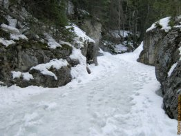 (April 10 2011) Picture shown was from spring 2011. Generally it is just solid ice through winter.