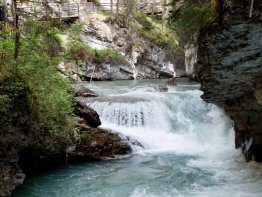 You will see maany waterfalls on your hike through Johnston Canyon in all shapes and sizes.
