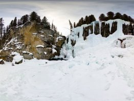 360 degree panorama of Johnston Canyon's Upper Falls.