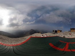 360 degree picture taken above the old foundation where the lookout once stood.
