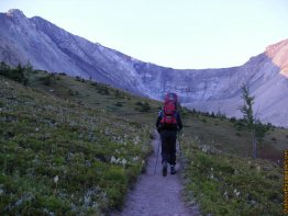 Following the Ptarmigan Cirque Trail.