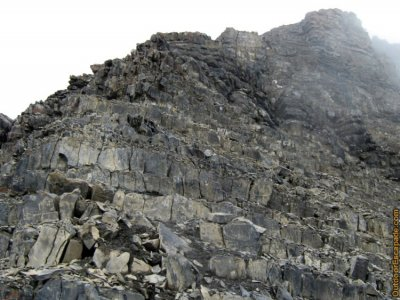 Typical terrain for the scramble portion.