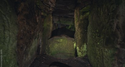 Inside Loughcrew Passage Tomb