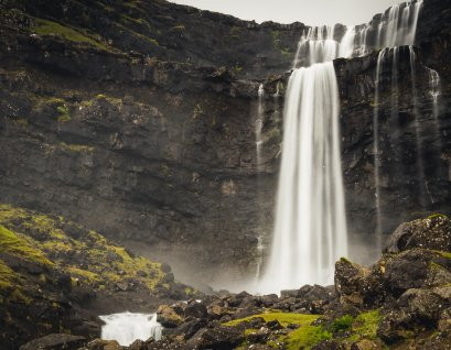 The tallest waterfall in the Faroes - Fossá