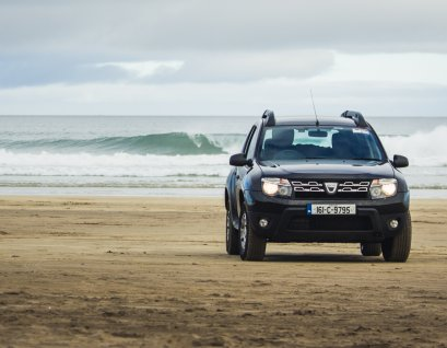 Dacia Duster on the beach