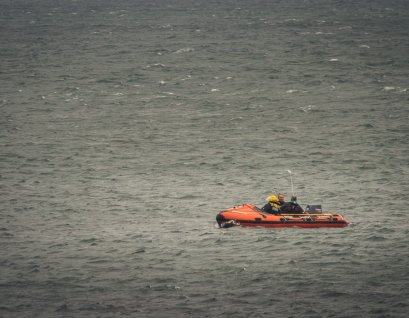 Irish Coast Guard conduction operations in the atlantic.