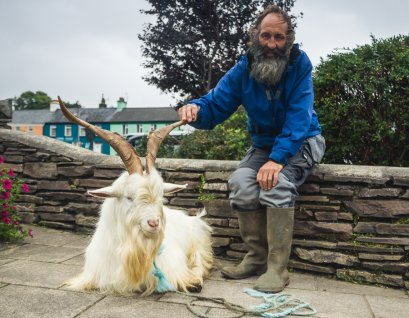 John and the mountain goat