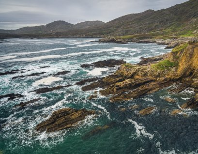 Coast line on the Beara Peninsula