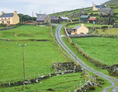 The little village of Ballynacallagh on Dursey