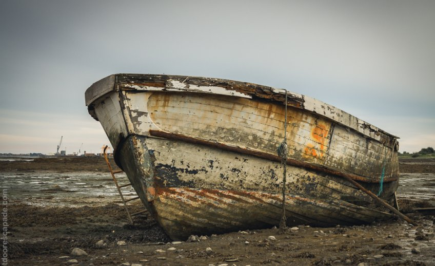 Boat in low tide