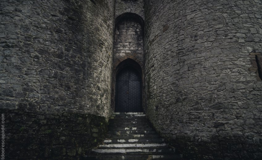 Doors to King John's Castle in Limerick