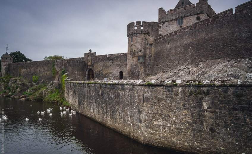The Cahir castle moat