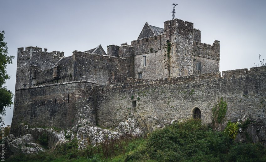 The formidable Cahir Castle.
