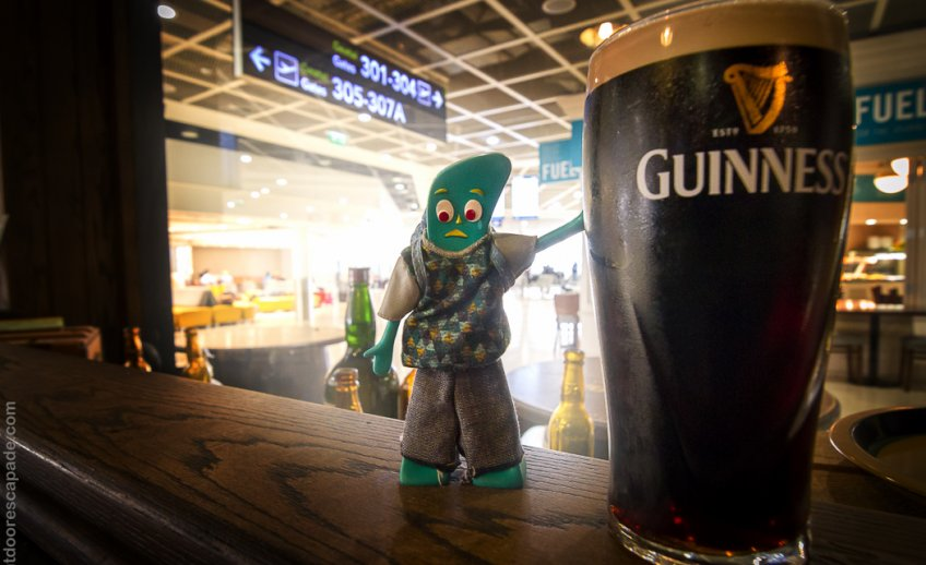 Gumby and a Guinness to quell the departure