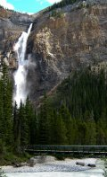 Takakkaw Falls from along the path as you approach the base.