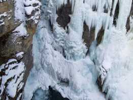 The massive and frozen Upper Falls.